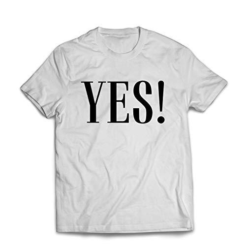 lepni.me Camisetas Hombre Una Camisa Que Diga sí, Claro, está Bien. Humor Positivo (Large Blanco Multicolor)