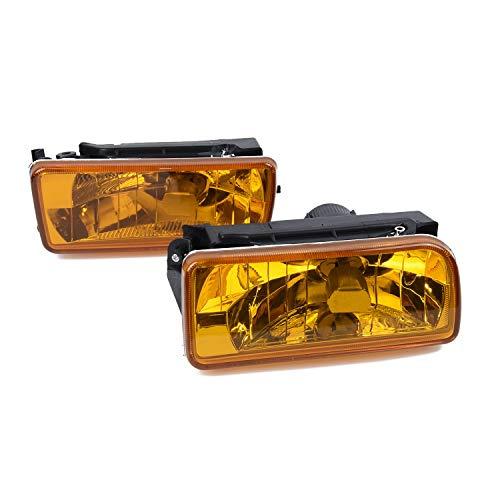 GXDD 2 Stück gepasst for 92-98 BMW E36 M3 Chrom H1 Nebelscheinwerfer Ersatzlampen-Gelb-Linse Autoleuchten und Zubehör