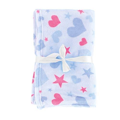 Bieco Baby Kuscheldecke Fleece Blau   Flauschige Decke   Kuscheldecke Baby   Kinder Kuscheldecke   Dünne Decke Flauschig   Baby Blanket   Kuscheldecke Kinder   Geschenk zur Geburt Junge- und Mädchen