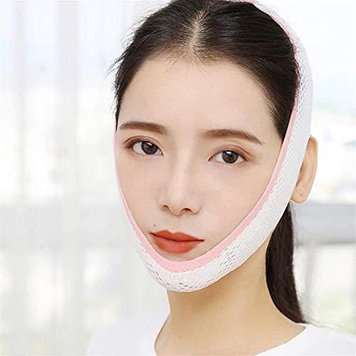 ZJXYYYzj V Lifting Masque, Respirant V Visage Cheek Lift Up Band Masque Visage Mince Fermeté Anti Menton Rides Tension de la Courroie Mise en Forme V-Line Réduire Double (Color : Pink)