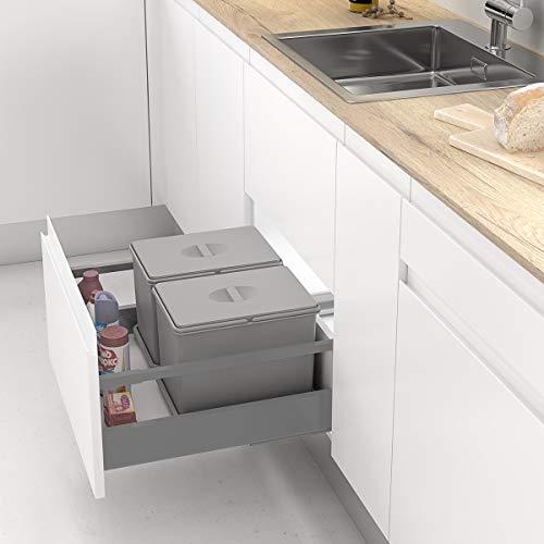 Casaenorden - Cubo de basura para cajón extraíble de la co