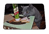 22cmx18cm マウスパッド (キャットフードベーコンマスタード肉パン) パターンカスタムの マウスパッド