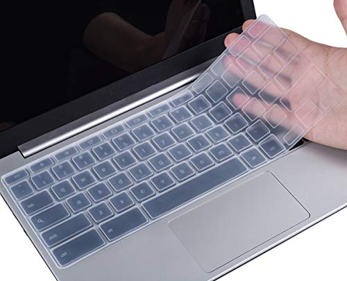 Keyboard Cover Compatible with Dell 11.6\' Chromebook 3100 C3181 / Dell Chromebook 11 3120 3180 3181 3189 5190 11.6\' / Dell Chromebook 13 3380 13.3\' Chromebook, Dell Chromebook Accessories, Clear