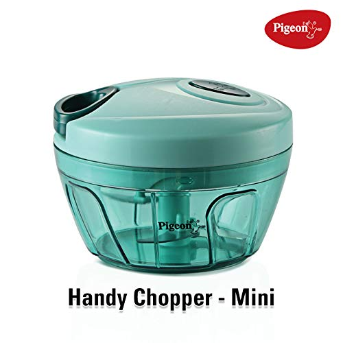 Pigeon by Stovekraft New Handy Mini Plastic Chopper with 3 Blades, Green