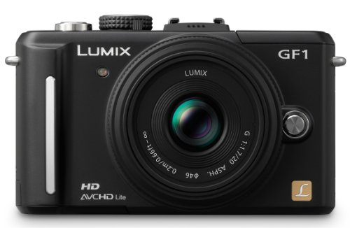 Panasonic Lumix DMC-GF1EG-K Systemkamera (12 Megapixel, 7,6 cm Display, HD-Video, LiveView, Bildstabilisator) inkl. 14-45 mm Objektiv mattschwarz