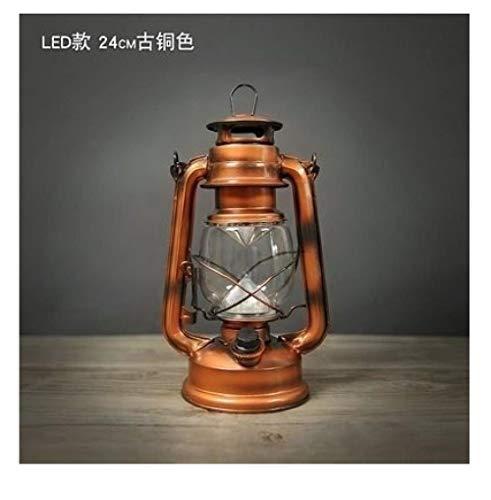 Qianqingkun Laternen, Kutschenlaternen, antike Retro-Vintage alte Laternen, Petroleumlampen-Modell 8235, LED Bronze