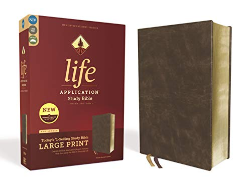 Compare Textbook Prices for NIV, Life Application Study Bible, Third Edition, Large Print, Bonded Leather, Brown, Red Letter Edition Large Print Edition ISBN 9780310452928 by Zondervan