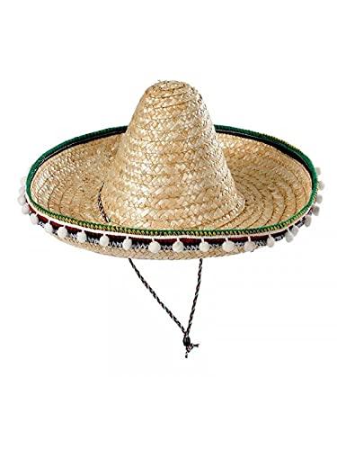 DISBACANAL Sombrero Mejicano Adulto 55cm - Beige