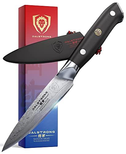 "DALSTRONG - Paring Knife - 3.5"" - Shogun Series - Damascus - AUS-10V Japanese Super Steel - Vacuum Treated - w/Sheath"