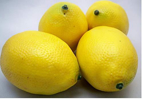 4 Große künstliche Zitronen Obst
