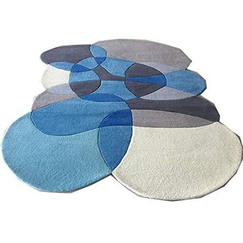 SWNN Carpet Nordic Blau Minimalistisch Modernes Wohnzimmer Couchtisch Schlafsofa Schlafzimmer Teppich Teppich Handgemachte Acryl-Teppich 2m * 3m (Size : 1.6 * 2.3m)