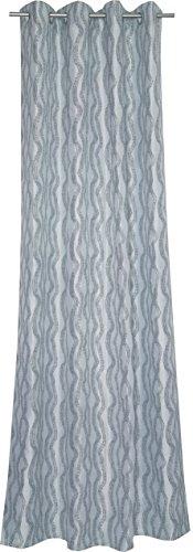 Esprit Home 70143 002 Rondelle Top Puntos, 140 x 250 cm, Blanc/Noir