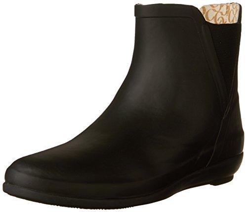 Chooka Women's Fashion Rain Bootie Ankle, V-Gore Black, 7 M US