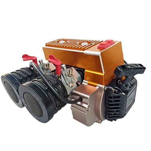 dataoeryingshiwenhuachuanmei - Motor de gas de doble cilindro, 60 cc, para 1/5 HPI BAJA LOSI 5T
