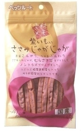 (まとめ買い)ペッツルート 素材メモ 紫芋入りささみじゃがじゃが 40g 【×20】