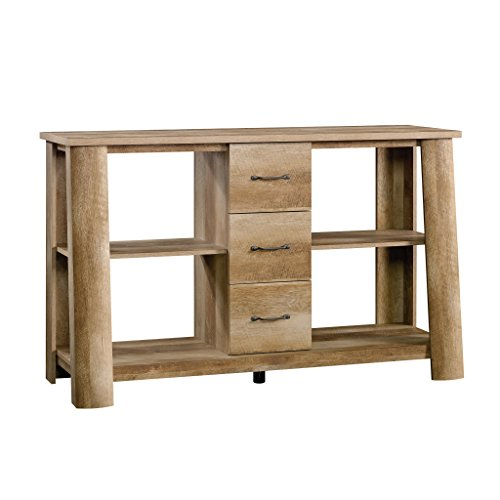 Sauder Boone Mountain Credenza, For TV's up to 60', Craftsman Oak finish
