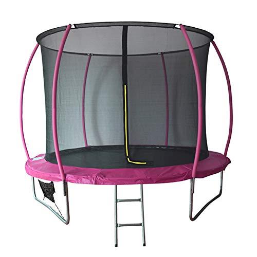 BIWOND Trampolín Cama Elástica NextJump 10 (Diámetro 3.05m, para Niños y Adultos, Red de Seguridad, para Exteriores) – Rosa