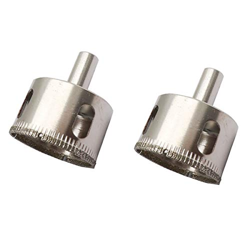 LDEXIN 2Pcs 45mm/1.78' Diamond Coated Drill Bit Porcelain Ceramic Glass Tile Porcelain Hole Saw Hollow Core Drill Bit Extractor Remover Tools(45mm/1.78inch)