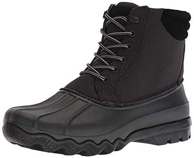 Sperry Men's Avenue Duck Heavy Nylon Rain Boot, Black, 7.5 M US
