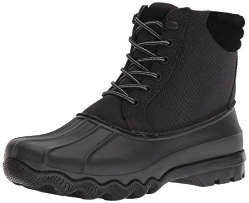 Sperry Men's Avenue Duck Heavy Nylon Rain Boot, Black, 12 M US