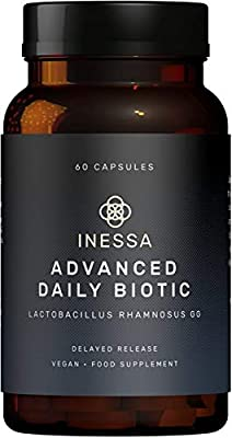 Probiotic Lactobacillus Rhamnosus GG - 60 daily vegan probiotic capsules - the most scientifically studied strain globally, with the greatest level of clinical documentation - Lactobacillus GG probiotics are provided via advanced delayed release probiotic