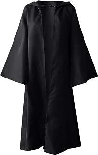 Women Men's Vintage Gothic Solid Hooded Bandage Cloak Cosplay Outwear Coat