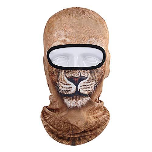 Balaclava Cagoule Mode Anti-Poussière Couvre-Chef Animal Chat Chien Lion Tigre Motif Hommes Femmes Complet Cagoule Couverture Cou Écharpe Chapeaux-Bbb-4-