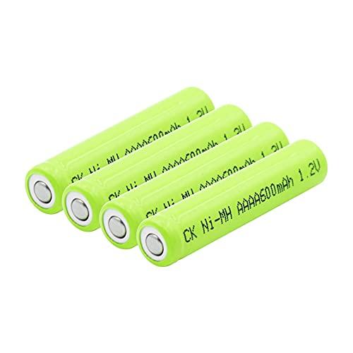 hsvgjsfa Pilas Recargables AAAA Batería Ni-Mh De 1.2v 600Mah, Adecuada para Reloj Despertador, Linterna, Mini Ventilador 4pcs
