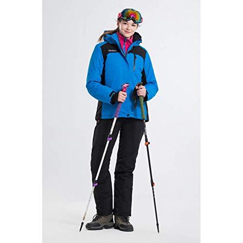BCOGG Ski Suit Femmes Vestes De Snowboard + Pantalon Manteau De Neige Chaude Respirant en Option Coloré Ski Ensembles Femme XXL B