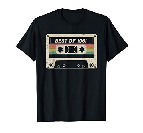 Best Of 1961 60th Birthday Gift Retro Cassette Tape Vintage T-Shirt