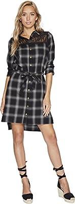 Bishop + Young Womens Plaid Shirt Dress