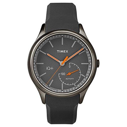 Timex iQ+ Move orologio sportivo Nero, Acciaio spazzolato, Arancione Bluetooth