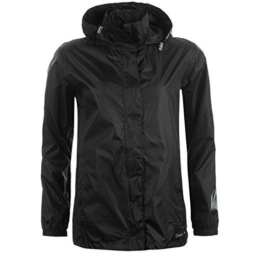 Gelert Damen Packaway Jacke Wasserdicht Atmungsaktiv Kapuze Taschen Schwarz M