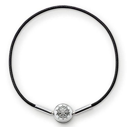 Thomas Sabo Damen-Armband Karma Beads 925 Sterling Silber schwarz Länge 38 cm KA0003-653-11-L38