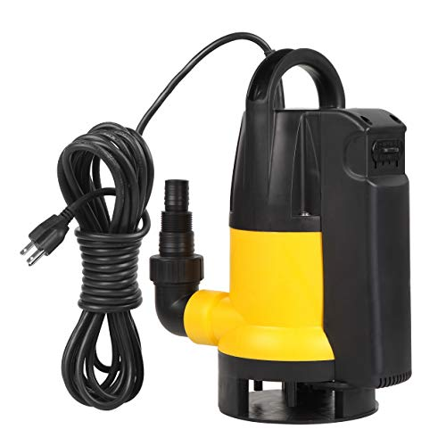 Trupow 1HP 3435GPH 110V Submersible Electric Sewage Drain Flood Clean/Dirty Water Transfer Sump Pump with Built in Automatic ON/OFF Switch