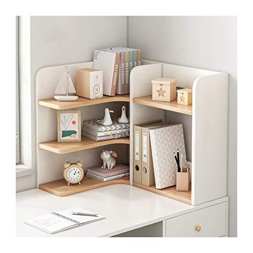 N/Z Home Equipment Office Bookshelf 3 Tier Desktop Bookshelf Wood Desktop Organizer...