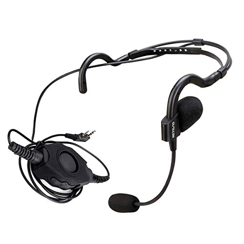 Retevis Walkie-Talkies Ohrhörer mit Mikrofon, 2-polig, Overhead-Headset für Baofeng UV-82 UV-5R Retevis H-777 RT21 RT22 Arcshell AR-5 2-Wege-Funkgeräte (1 Stück)