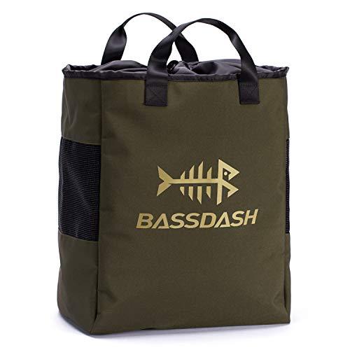 Bassdash - Borsa per scarponi da pesca e caccia, in rete ventilata