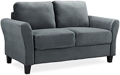 Best Lifestyle Solutions CCWENKS2M26DGRA Watford Loveseat in Grey, Dark