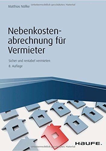 Nebenkostenabrechnung für Vermieter (Haufe Fachbuch)