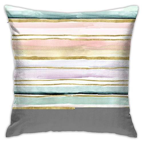 Mengghy Throw Pillow Daydream Stripe Cushion Case Home Decor Pillowcase 18x18 Inches