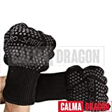 Calma Dragon BBQ 932F Extremadamente Resistente al Calor - Resistente a Altas temperaturas para BBQ - Guantes de Silicona ignífugos para cocinar