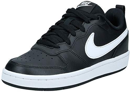 Nike Unisex Kinder Court Borough Low 2 (GS) Sneaker, Black/White, 36.5 EU