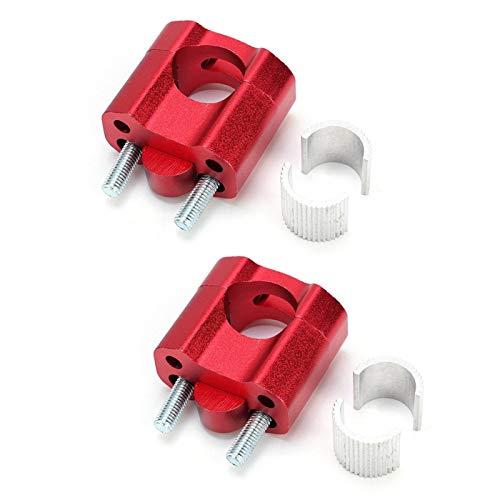 Oubit Elevador de Manillar -1 par de Abrazaderas de Barra de 22 mm 28 mm Elevadores de Manillar para Accesorios de reacondicionamiento de Motocicleta Rojo
