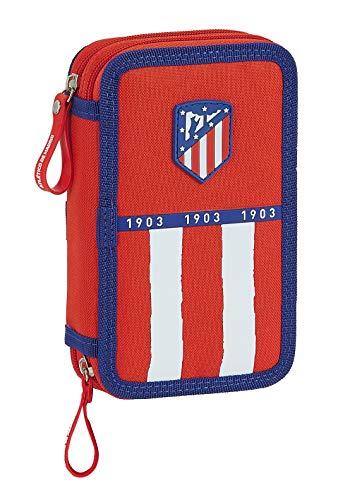 Federmäppchen mit 28 nützlichen Utensilien von Atlético de Madrid 1. Equipation 20/21, 125 x 40 x 195 mm