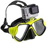 Navitech Grüne Tauchermaske mit Halterung kompatibel mit der Neo Adventure 4K Action Camera