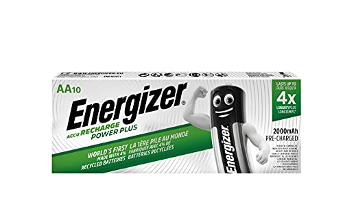 Energizer 634354 2000MAh AA Rechargeable Battery (Pack of 10) - Packaging May Vary
