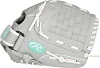 Rawlings Sure Catch Series Fastpitch Softball Glove, Teal/Grey/White, Right Hand Throw