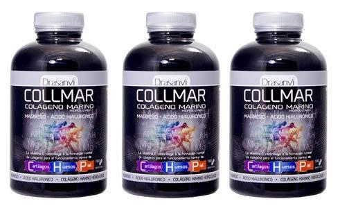 Colágeno marino Drasanvi Colmar hidrolizado con magnesio, ácido hialurónico y vitamina C - 180 comprimidos (pack 3 u.)