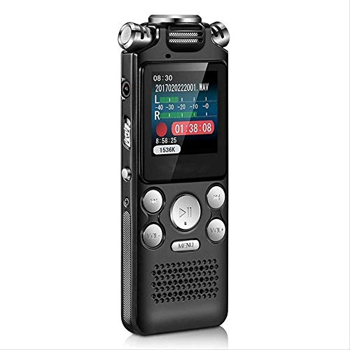 Sanyipace Smallest Mini USB Pen Voice Activated 8gb Digital Voice Recorder with Mp3 Player 384kbps Recording Black 8GB